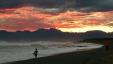 台風後の夕陽