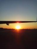 空港の夕陽